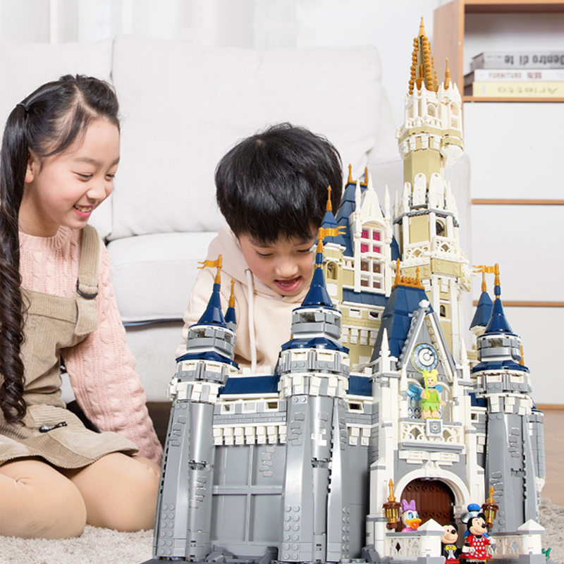 IN STOCK Disneys Princess Castle Building-Blocks Bricks 71040 Compatible With Legoinglys Blocks Bricks Toys For Children Gifts