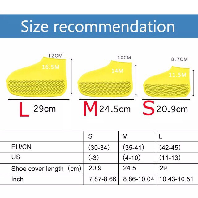 Waterproof Shoes Covers Environmental Protection Reusable Anti-Slip Motorcycle Rain Boot Soft Cover Silicone Elastic-5