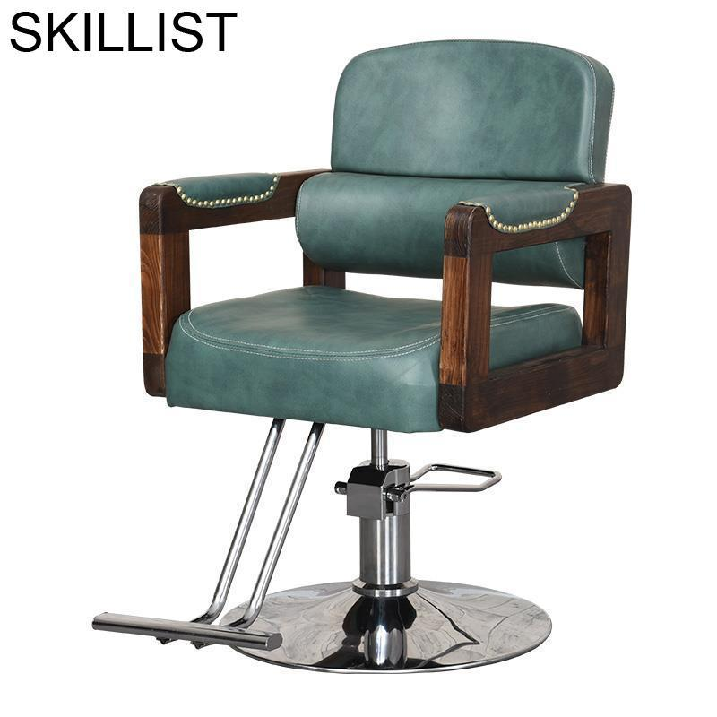 De Beauty Makeup Fauteuil Barbeiro Hair Furniture Hairdresser Sedie Stoelen Barbearia Salon Barbershop Cadeira Barber Chair