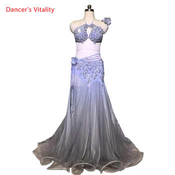 Customized Belly Dance Luxurious Diamond Bra Perspective Skirt Set Women Oriental Indian Dance Competition Performance Costume - DISCOUNT ITEM  10% OFF All Category