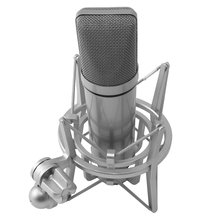 Top U87 Microphone Set Voice Microphone Metal Mini Host Device Condenser Microphone Live Microphone for Live/Show,White