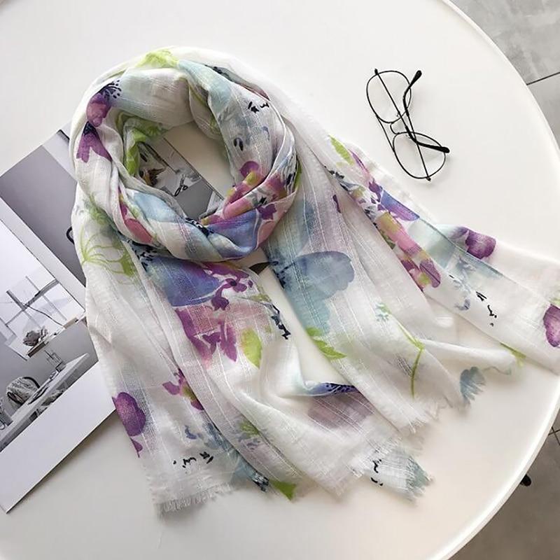 Ретро этнический стиль литературный Супер Большой Цветущий цветок шарф летняя шаль двойного назначения Тибетский Туризм теплый Шелковый