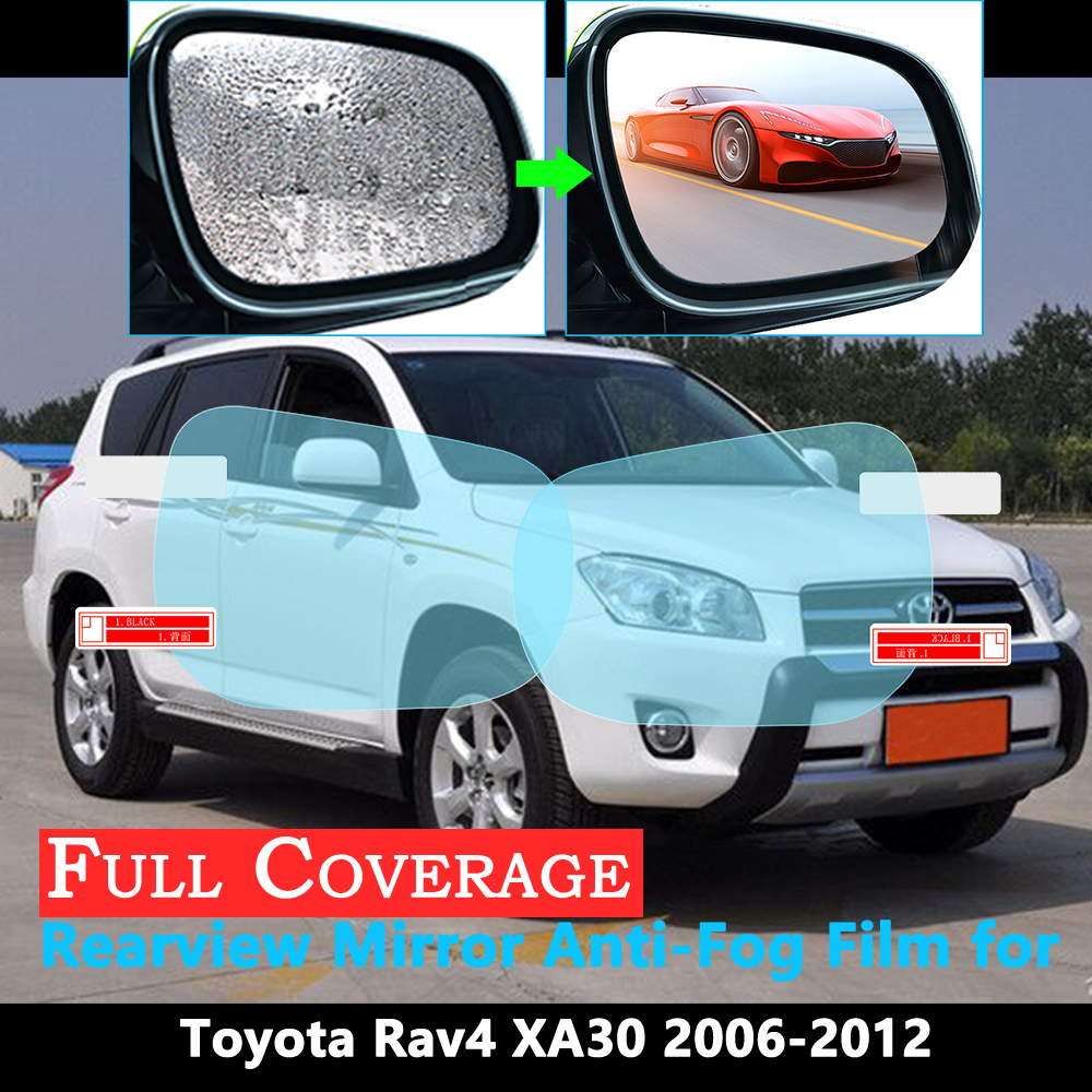 Full Cover Protective Film for Toyota Rav4 XA30 <font><b>RAV</b></font> <font><b>4</b></font> 30 2006~2012 Car Rearview Mirror Rainproof Anti-Fog Films Accessories <font><b>2011</b></font> image