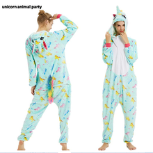 Kigurumi Onesies Cosplay Light green unicorns Men women halloween Christmas Party Pyjamas costumes carnival costume hoodies