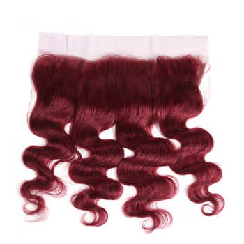 99J/Burgundy Human Hair Bundles With Frontal X-TRESS Brazilian Non-remy Body Wave Human Bundle Hair Weaves With Lace Frontal