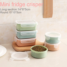 280ml/380ml Mini Plastic Lunch Container Bento Box Round/Rectangle Crisper Seal Box Meal Container with Lid Leak Proof(China)