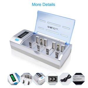 Image 2 - Зарядное устройство PALO C906w, устройство для быстрой зарядки АА, ААА, С, D, 9 В, экологически чистое, черного цвета