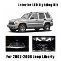 11 лампочек, освещение для салона автомобиля, подходит для 2002-2004 2005 2006 Jeep Liberty, багажника, двери, номерного знака