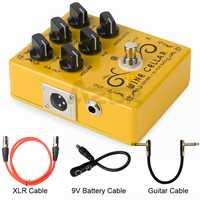 Caline CP-60 Driver + DI Per Bass Chitarra Effetto Del Pedale Con Cavo XLR 9V Effetto DI Accessori Per Chitarra Mini Pedale parti di chitarra