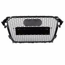 Для RS4 стиль Передняя Спортивная Шестигранная сетчатая сотовая бленда гриль глянцевый черный для Audi A4/S4 B8.5 2013-2016 аксессуары для автостайлин...