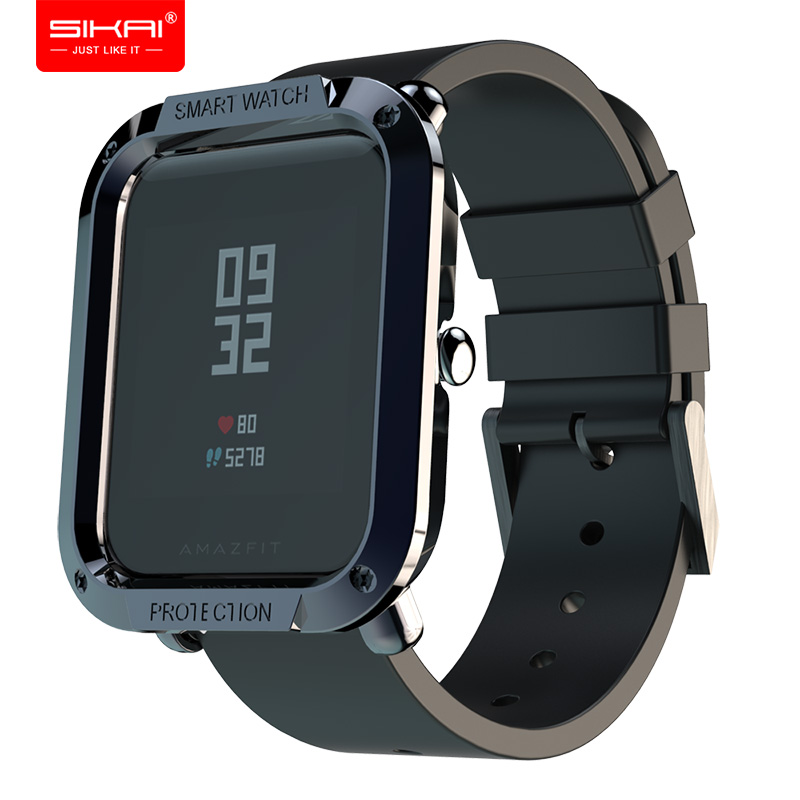 For Amazfit Bip Cases Smart Watches protector for Xiaomi Mi Huami Covers Midong PC Shell Lightweight Colourful SIKAI bip lite-in Smart Accessories from Consumer Electronics