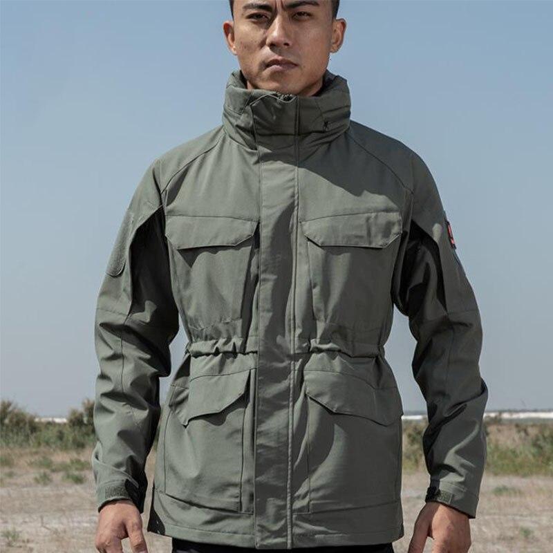 Winter Military Tactical Combat M65 Jacket Men Waterproof Windproof Hooded Multi-pocket Coat Male Fishing Hunting Windbreaker