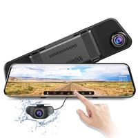 New ADOME PG17 12 Inches Touch Screen 1296P Car DVR Dual Lens Dash Camera Night Vision GPS RearView Mirror 1080P Rear camera