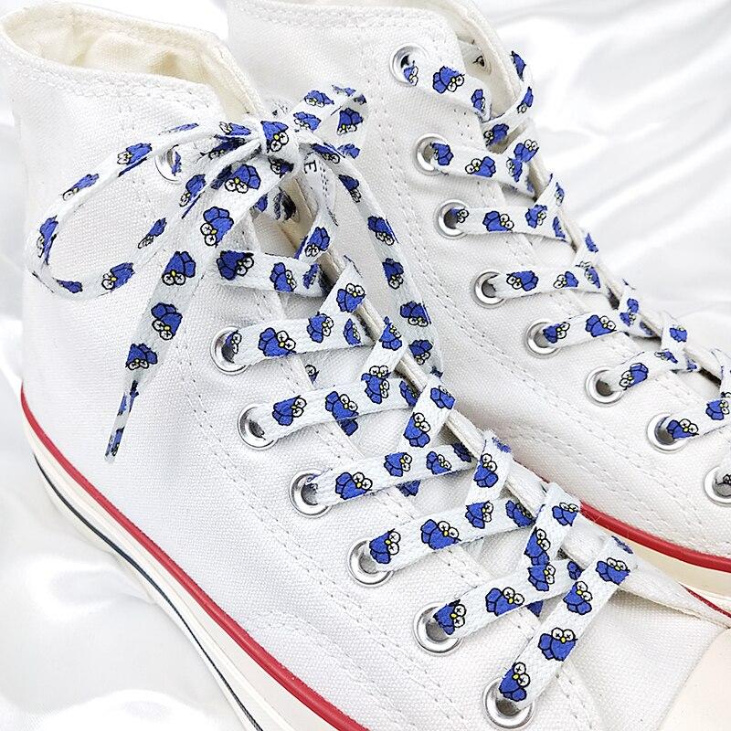 Individual Pattern High-top Canvas Sneakers Shoelaces Colorful Cartoon 9 Colors Fashion Women Men Shoelaces Dropship