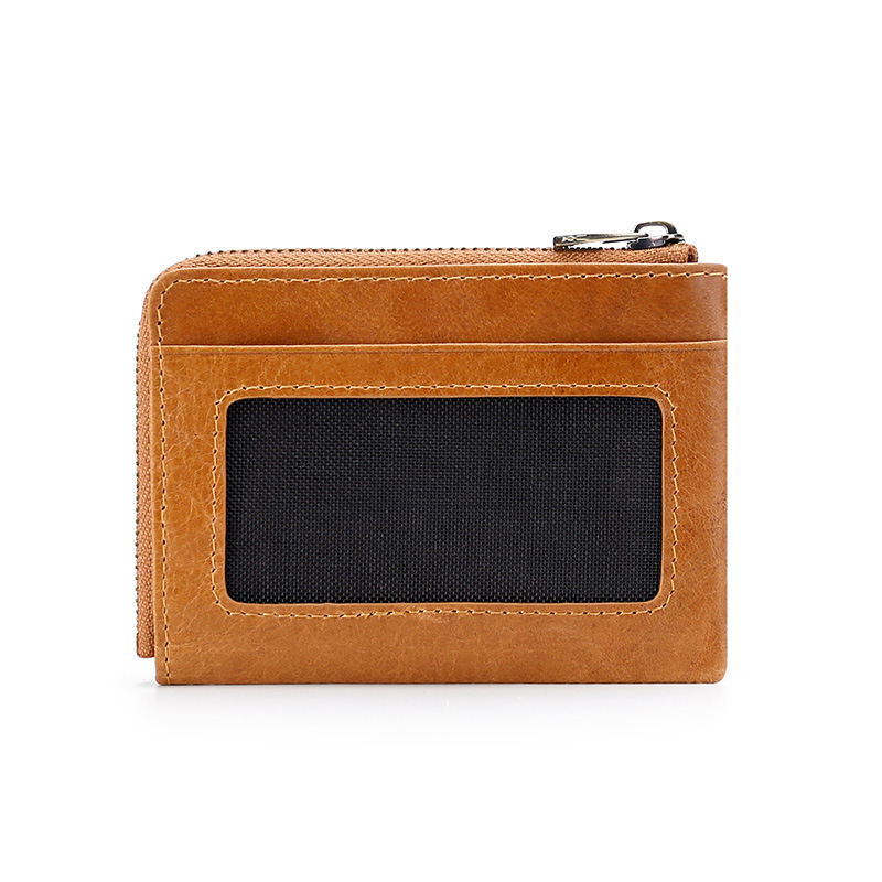 Europe And America RFID Coin Purse Genuine Leather Multi-Functional Wallet Bank SD Card Coin Bag Portable Coin Purse Wholesale