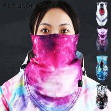 Ski-Mask Bibs Snowboard Headwear Cycling Funny-Pattern Fleece 3D Thicken Warm Triangle