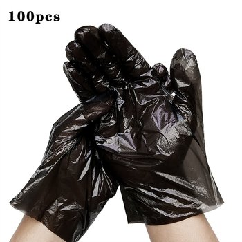 Disposable PE Plastics Protected Transparent Glove Palm Width 9-10cm Clean Hygiene Food Daily Cleaning Gloves image