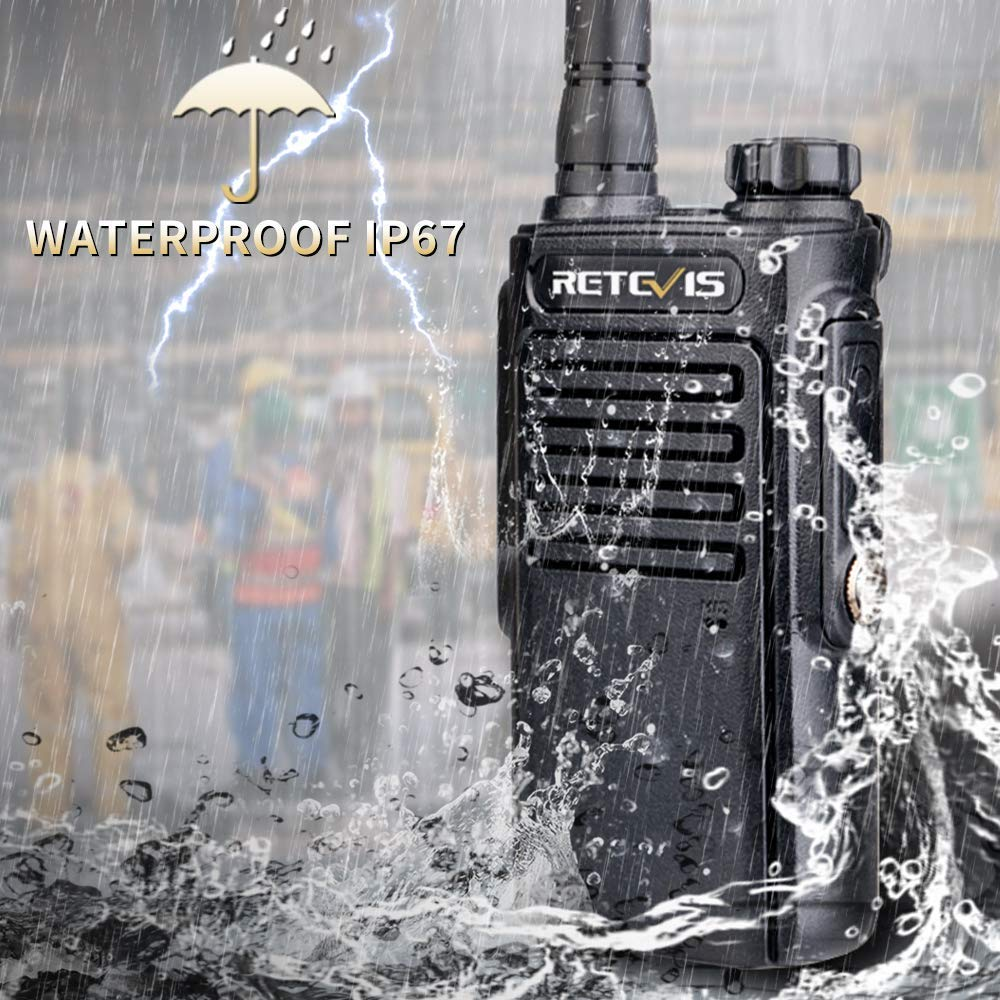 RETEVIS RT47/RT647 IP67 Waterproof Walkie Talkie PMR Radio PMR446/FRS VOX 2 Way Radio Comunicador Transceiver For Baofeng UV-9R