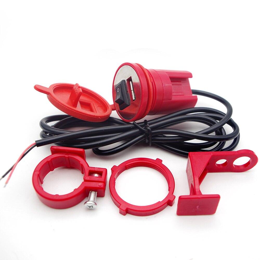 Motorrad 12V USB Ladegerät Schalter Mit Auf-Off Motor Telefon Halter USB Ladegerät Motorrad Lenker Ladegerät Motor Waren adapter