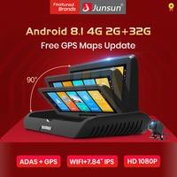 Junsun E95P Auto 4G Android 8.1 ADAS 2 32GB Car DVR Dash Cam FHD 1080P Dual Lens registrazione DVR per Auto registratore specchietto retrovisore