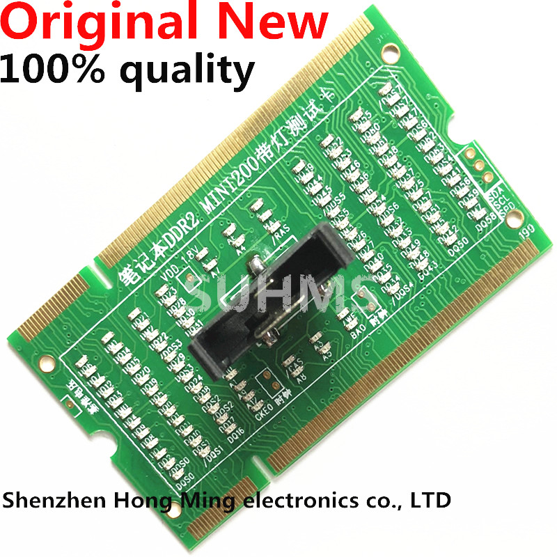 Laptop Motherboard Memory Slot DDR2 / DDR3 /DDR4 Diagnostic Analyzer Test Card SDRAM SO-DIMM Pin Out Notebook LED Tester Card
