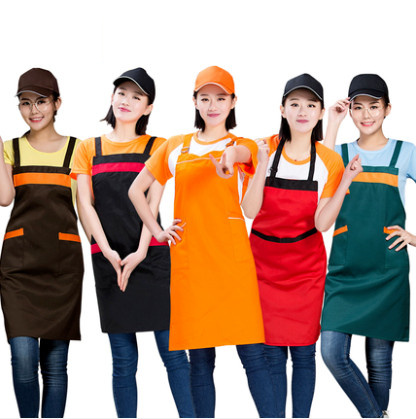 Catering Plain Anti-Fouling Women Man Kitchen Accessories Apron With Pockets Butcher Craft Baking Chefs Kitchen Cooking BBQ