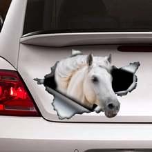 2021 naklejka z białym koniem naklejka na samochód naklejka na konia naklejka z białym koniem tanie tanio CN (pochodzenie)