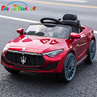 Special price Children's electric dual drive car kids four wheel remote control can sit vehicle baby swing toy car with push rod|Ride On Cars|   -