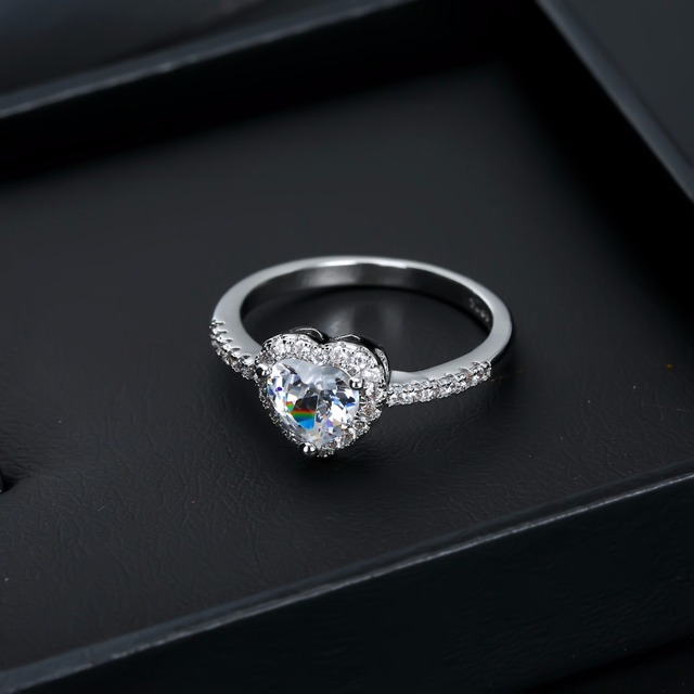 VKME Fashion Crystal Ring Openwork Crown Silver color Ring  2