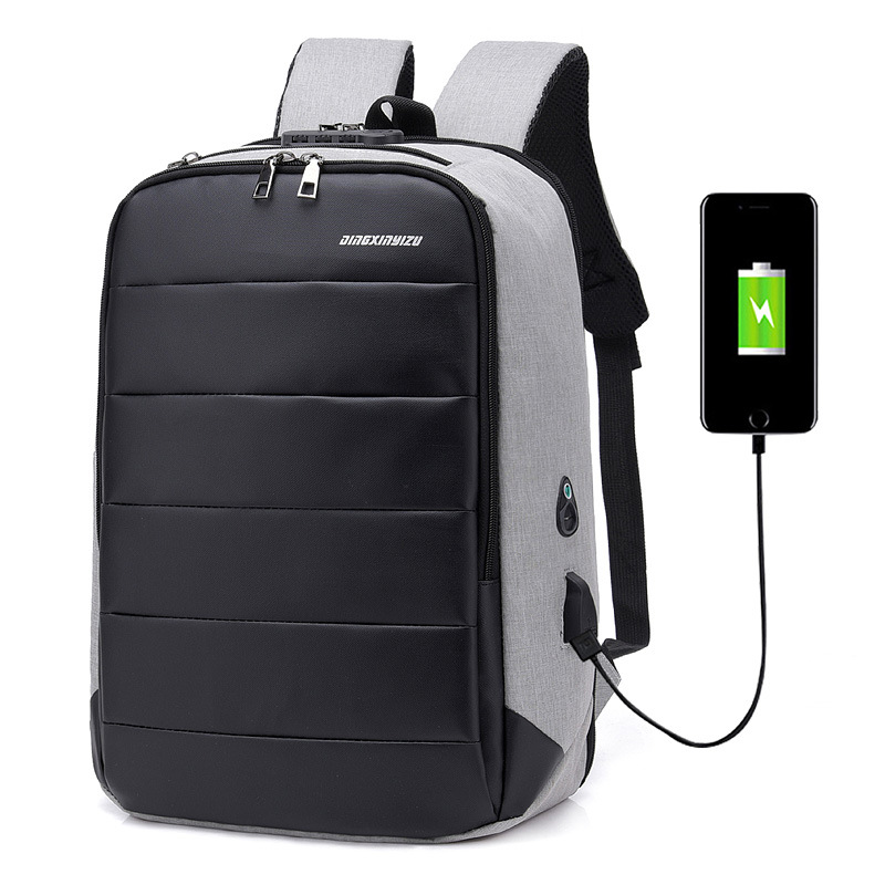 Manufacturers Direct Selling Business Men USB Charging Backpack Multi-functional Laptop Computer Backpack Customizable Wholesale image