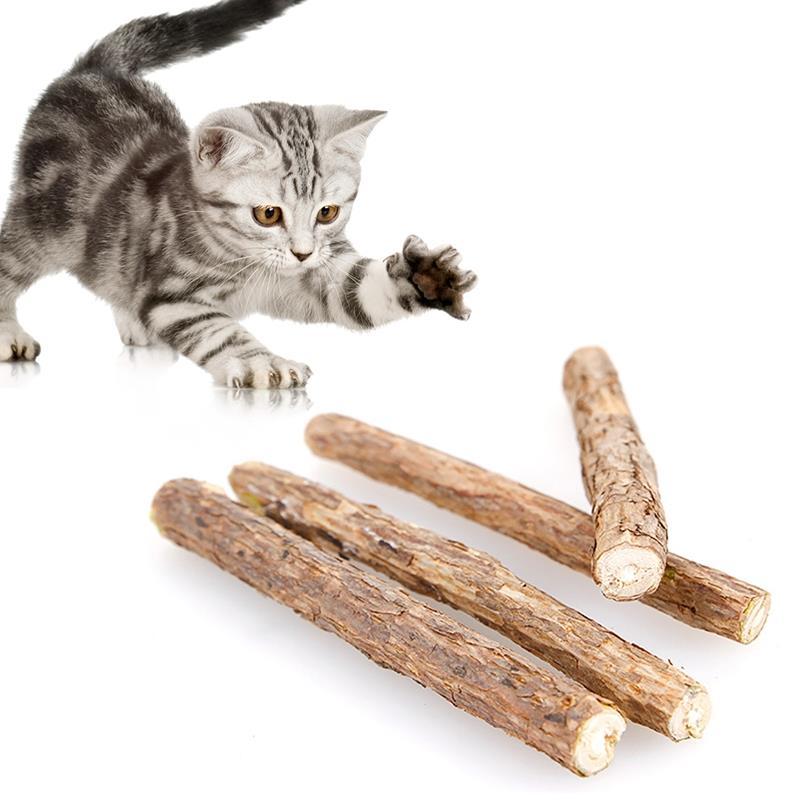 Натуральная Жевательная палочка для чистки зубов, палочка для кошачьей мяты, креативная жевательная игрушка для котят, игрушки для кошачье...