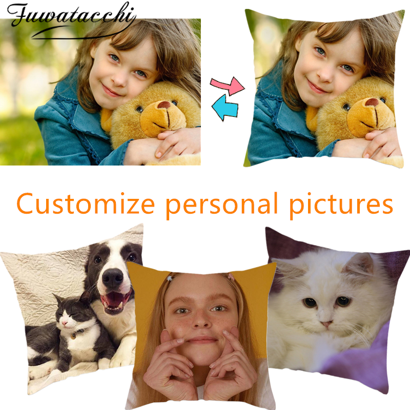 Fuwatacchi Design Customize Personal Picture &Pet&Wedding Personal Life Photos Gift Home Cushion Cover Pillowcase Pillow Cover