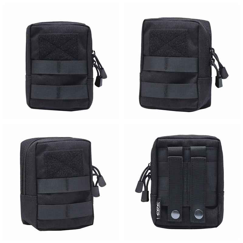 New Military Tactical Multifunctional Waist Bag Outdoor EDC Molle Pouch Tool Zipper Waist Pack Accessory Durable Belt Pouch