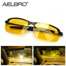 AIELBRO Night Vision Driving Glasses Polarized Driving Sunglasses Men Women Anti-glare Night Vision UV Driver Goggles gafas