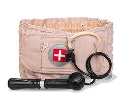 Nueva correa de espalda Lumbar, soporte de tracción, descompresión de aire, alivio del dolor, masajeador inflable, protección de cintura para personas mayores