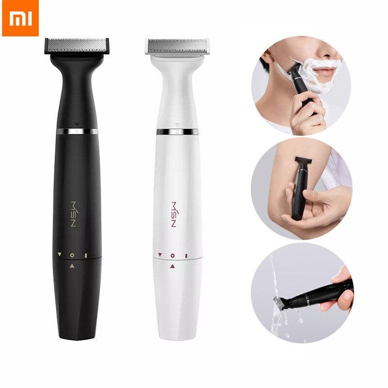 2020 New Xiaomi MSN Electric Hair Shaver Razor Waterproof Dry & Wet Body Leg Armpit Hair Eyebrow Styling Trimmer For Men
