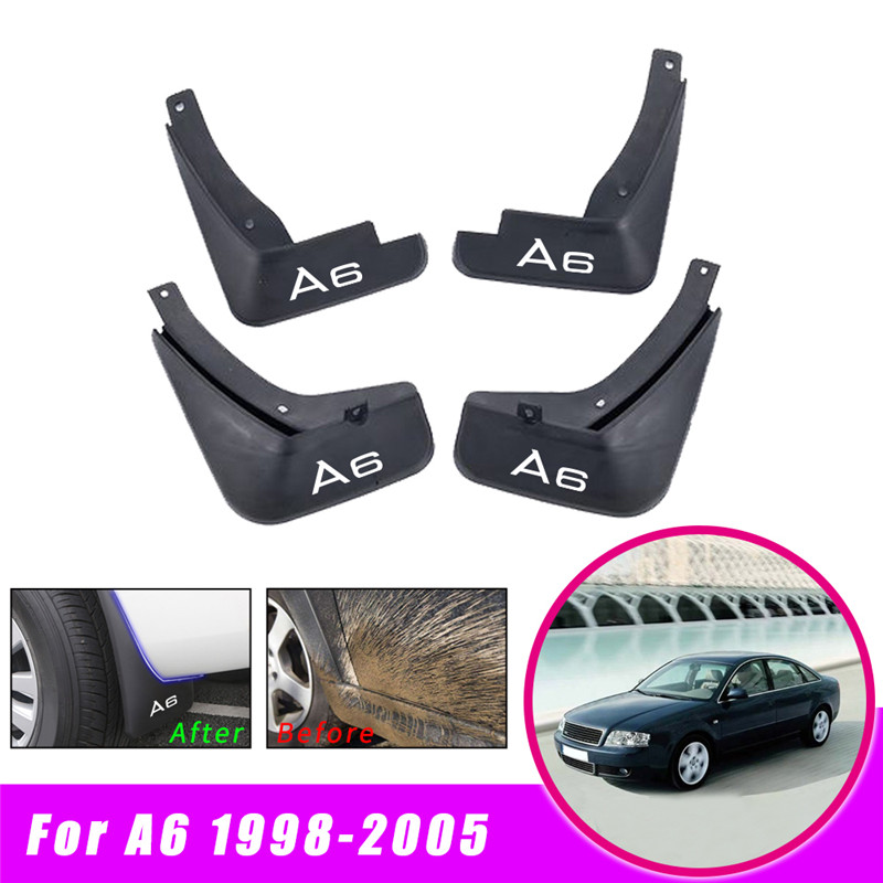 1998~2005 Splash Guards Mudguards Front Rear Mud Flap Flaps For Audi A6 C5