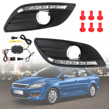 LED Daytime Traffic Light White Light High Brightness Two And Three Compartment Special Daylight Sunlight for 09-14 Ford