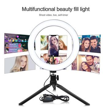 Makeup Vanity Mirror Light USB Power Dimmable Selfie light Ring LED Lamp for Photography Live Video Beauty Fill Light