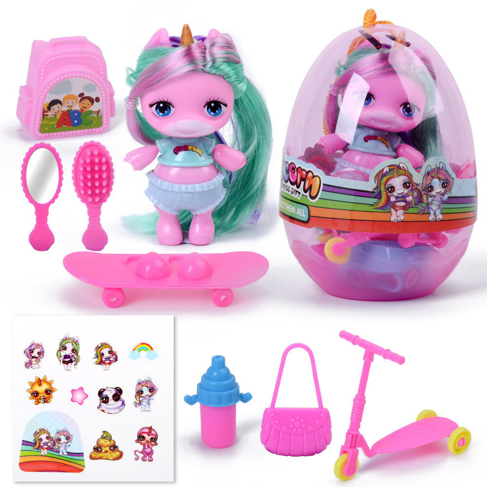 Surprise Doll MGA Poopsie soft glue Surprise Silicone Unicorn Rainbow LOLS Doll QQ eggs Figure Action Toys for Girl Gifts