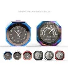 Aluminum Alloy Motorcycle Luminous Handlebar Mount Clock Watch Thermometer A0NE