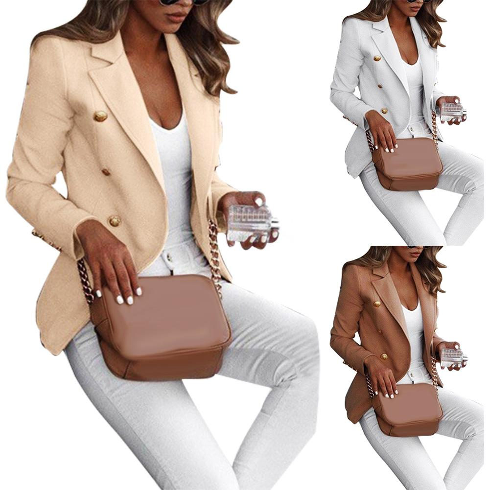 Plus Size Women Suit Jacket Autumn Solid Color Lapel Long Sleeve Office Business Women Blazer Coat Suit Jacket Blazer