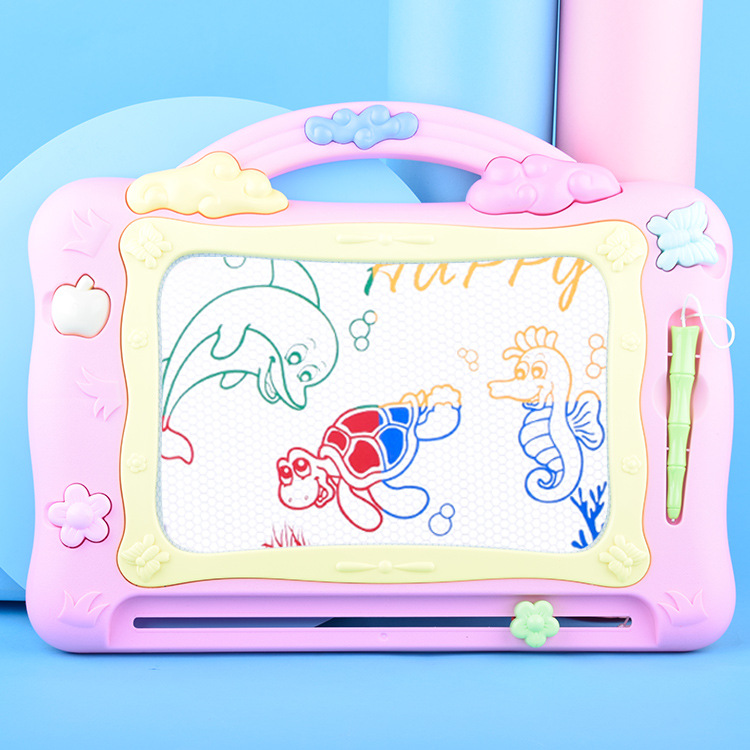 Strange New Children Color Magnetic Drawing Board Multi-functional With Stamp-Graffiti Painted Writing Board Educational Toy