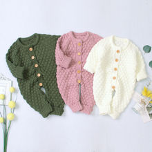 0-18M Newborn Infant Baby Girl Boy Romper Knitted Long Sleeve Jumpsuit Warm Autu