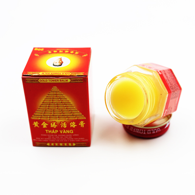 New 2019 Pain Cream Vietnam Gold Tower Balm 20g Relieving Itching Muscle Joints Rheumatism Detumescence Ointment Active Cream