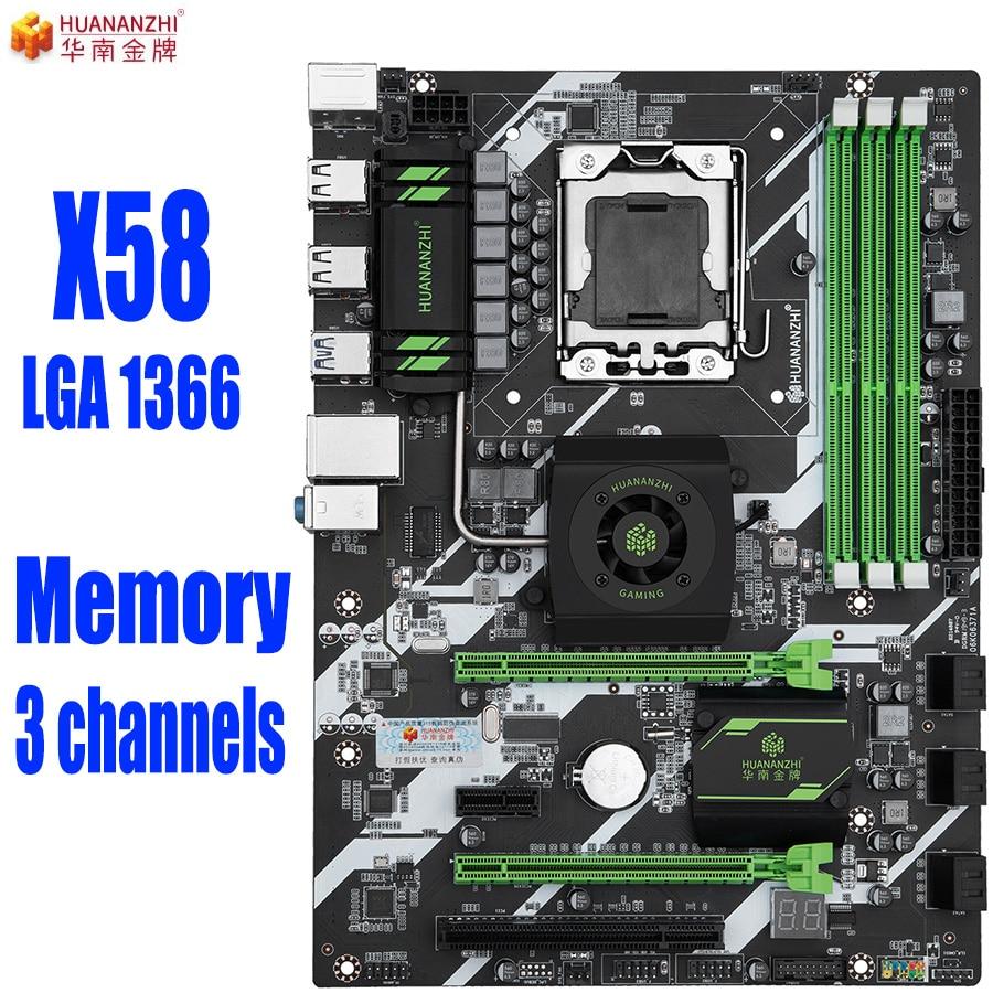 HUANANZHI X58 LGA 1366 motherboard Memory 3 channels LGA1366 support REG ECC DDR3 and xeon processor USB3.0 AMD RX Series|Motherboards| - AliExpress