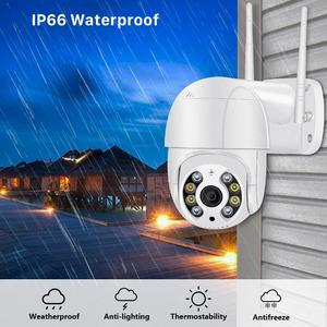 Image 3 - 1080P Hd 4X Zoom Ptz Ip Camera Wifi Outdoor Ai Detection Alert 3MP Cctv Camera Kleur Ir Licht Audio security Surveillance Camera