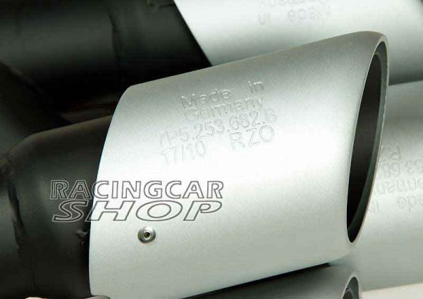 Stainless Steel Exhaust Tip Muffler Long Pipe Fit For Porsche Cayenne V6 Pipe 2011-2014 T056W 3