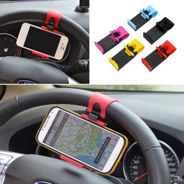 Car Steering Wheel Clip Mount Holder for iPhone 8 7 7Plus 6 6s for Samsung for Xiaomi for Huawei Mobile Phone GPS