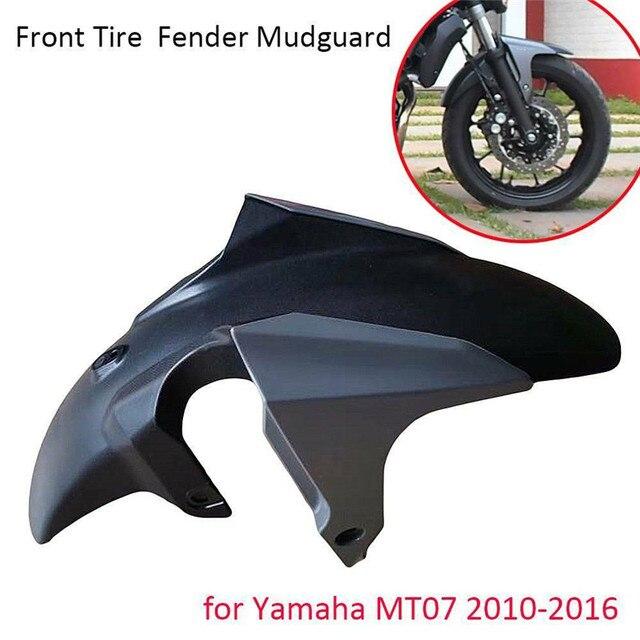 Abs 인젝션 프론트 휠 타이어 펜더 스크럽 머드 가드 머드 플랩 머드 가드 for yamaha mt07 mt 07 MT 07 fz07 2010 2016 2011 2012